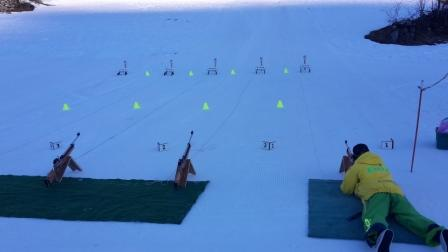 Chamonix shooting range for Biathlon