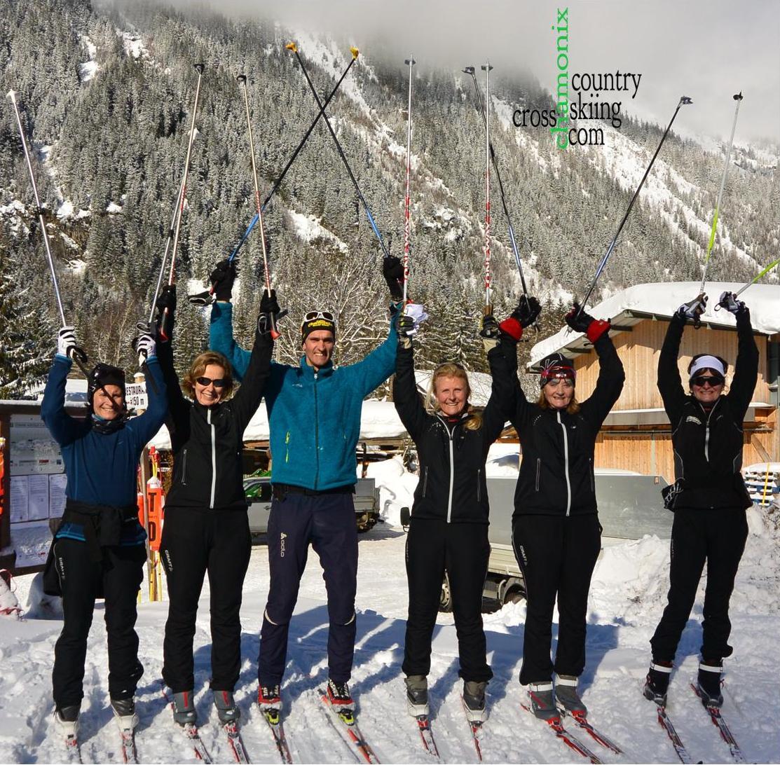 Sortie ski de fond pour un groupe.