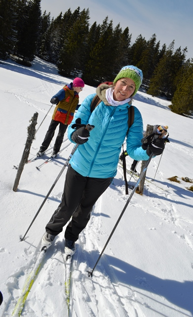 A family discovered cross country skiing