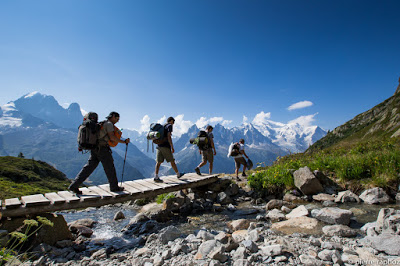 Hiking on the GR Mont-Blanc.