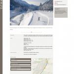 Plan pistes ski de fond Chamonix