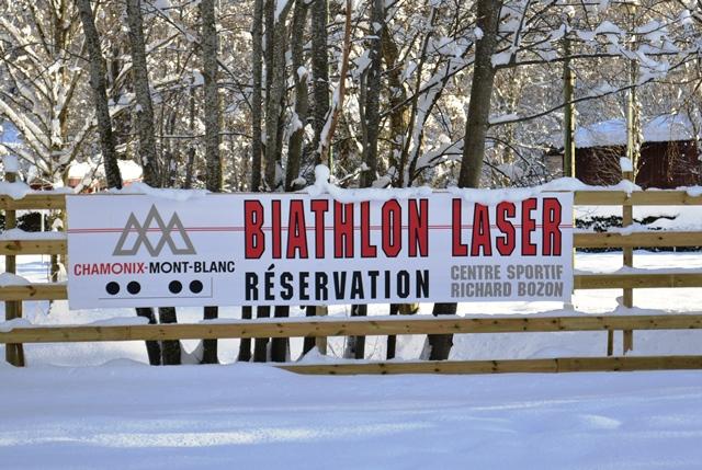 Biathlon laser range in Chamonix