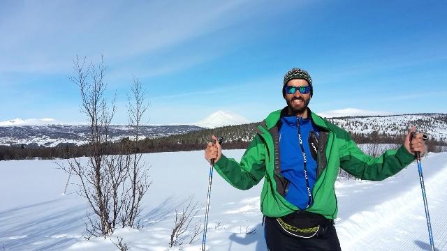 Richard et le massif de Rondane en arrière plan