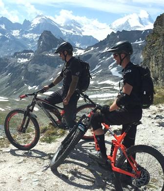 Vtt chemin Chamonix-Zermatt
